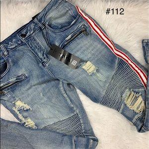 😀 NWT Black Premium Mens Skinny Flex Jeans  34